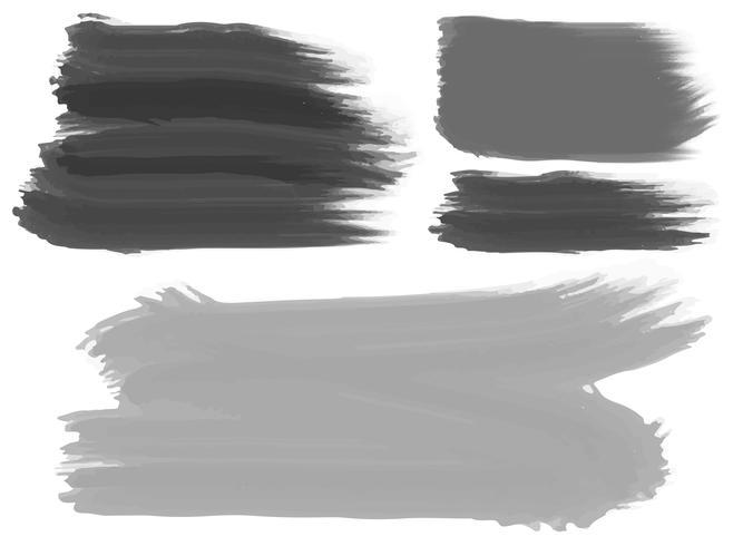 Drei Pinselstriche in Schwarz und Grau vektor