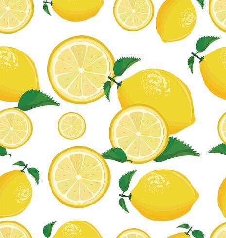 Nahtloser Hintergrund mit Zitrone vektor
