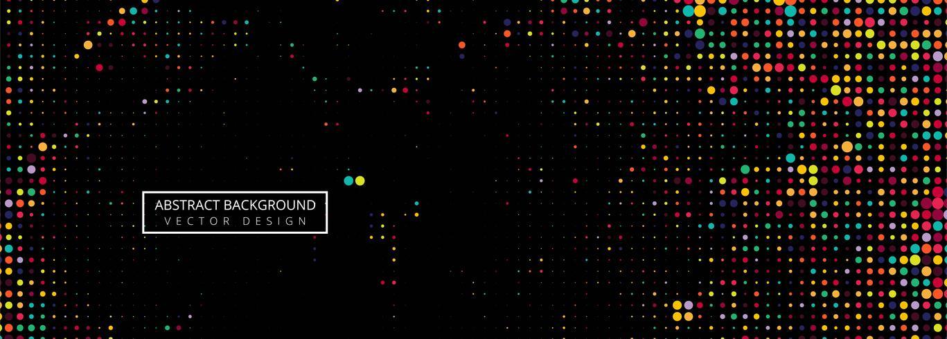 Schwarzer Hintergrund des bunten Halbtonvektors der Stellen vektor