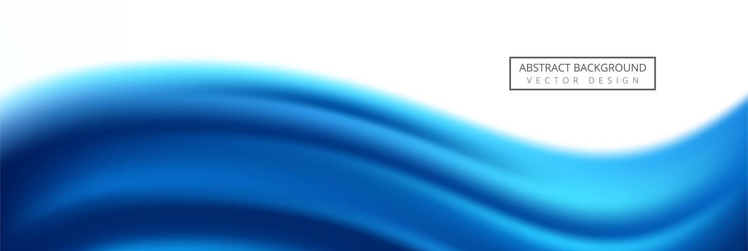 Schönes kreatives Wellenfahnenschablonendesign vektor