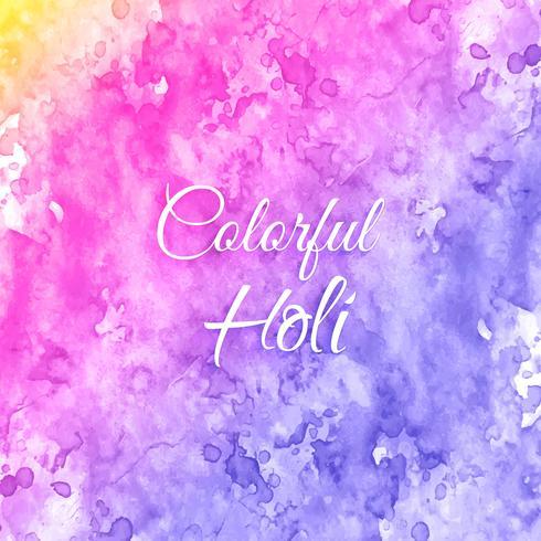 Indianerfest Happy Holi Feiern mit Farben vektor