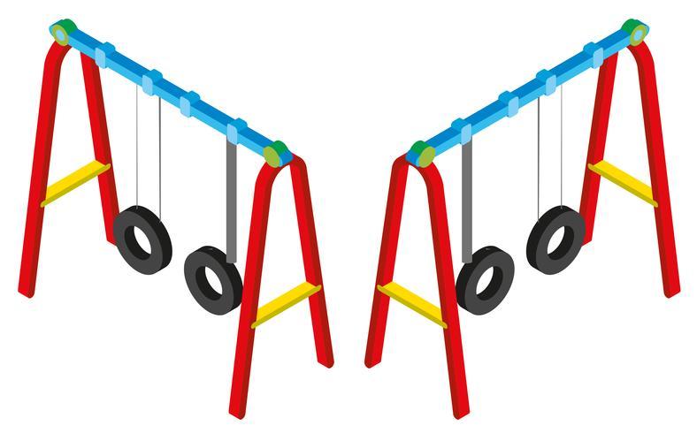 3D-Design für Schaukeln vektor