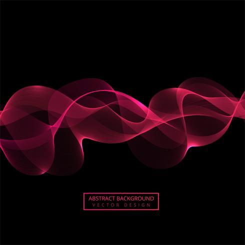 Abstrakter rosafarbener flüssiger Wellenvektor vektor