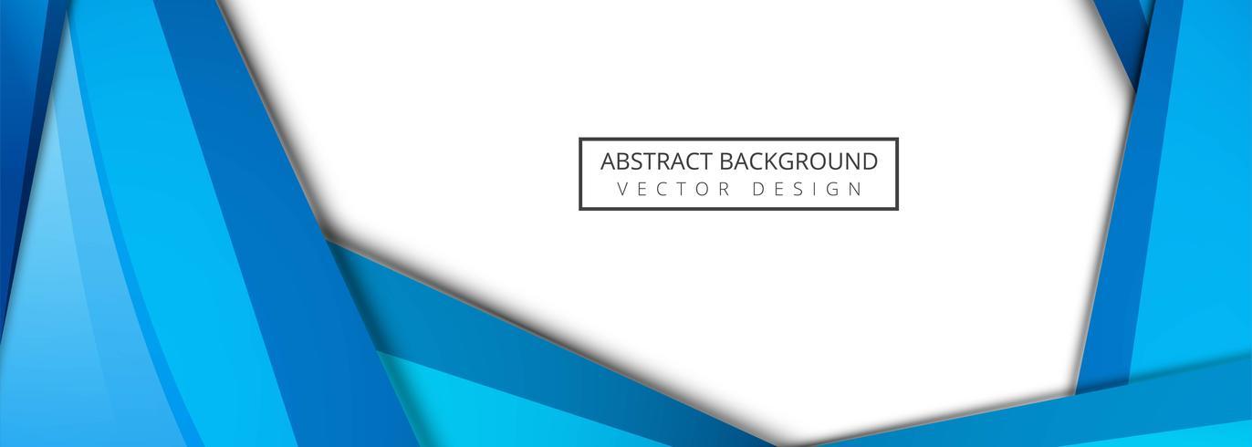 Abstrakter blauer wellenförmiger Hintergrundvektor vektor