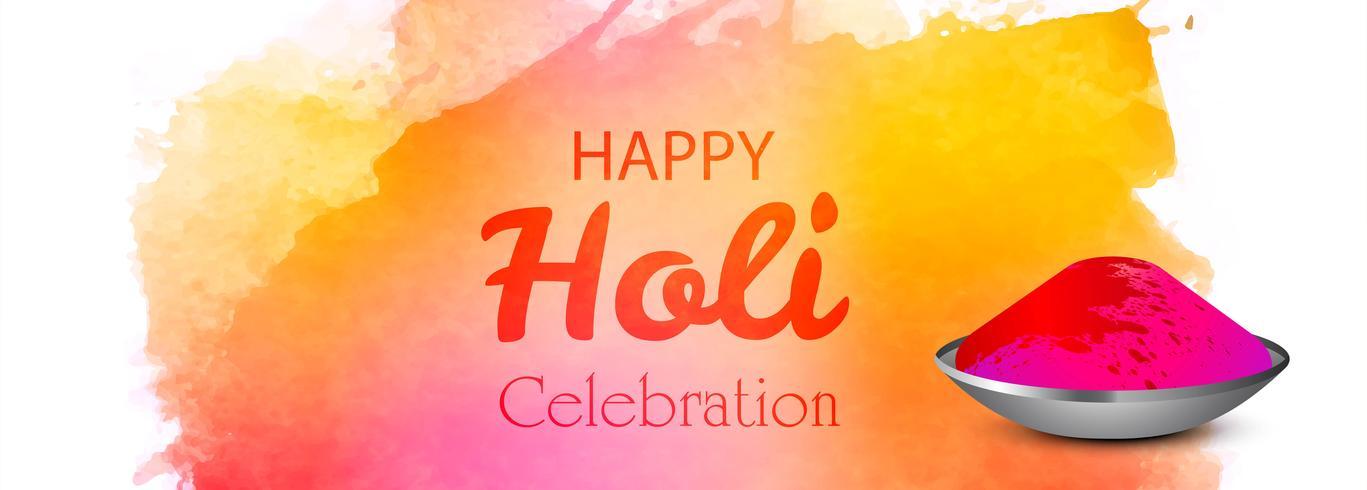 Glad holi festival färgglada banner bakgrund vektor