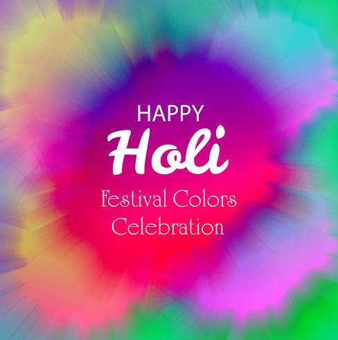Bunter Hintergrund der glücklichen Holi Festivalfeier vektor