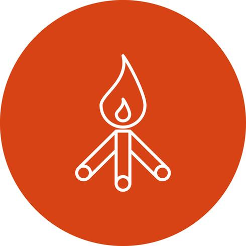 Vektor-Feuer-Symbol vektor