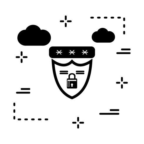 Vektor-Schild-Symbol vektor