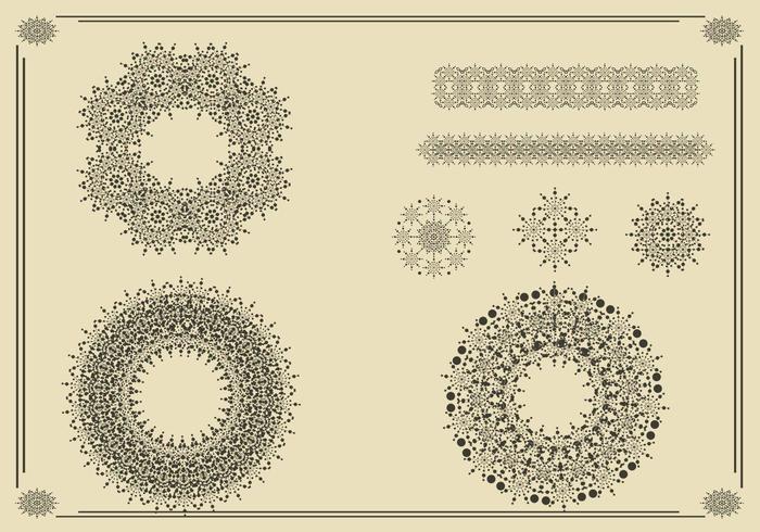 Kränze, Rahmen und Ornamente Vector Pack Two