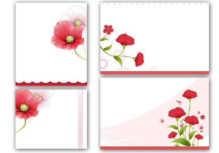 Mohnblumen Karten und Vektor Wallpaper Pack