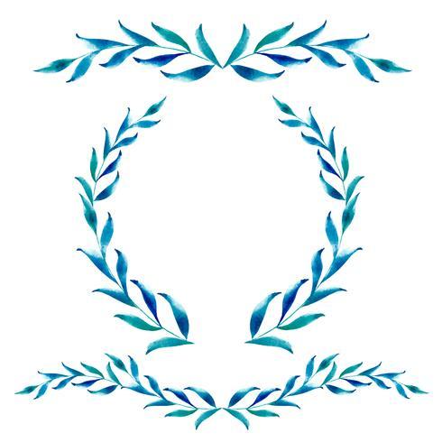 Rahmen aus Blättern und Platz für Text. Kalligraphie-Vektorillustration EPS10 der Weinlese Hand gezeichnete vektor