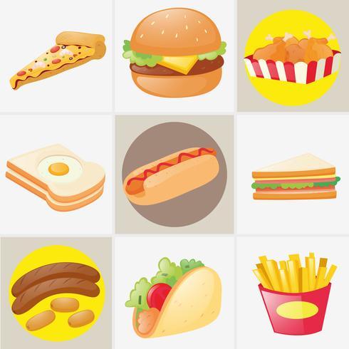 Olika typer av mat vektor