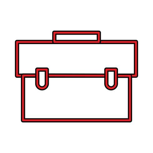 Breifcase Perfect Icon-Vektor oder Pigtogram-Illustration in gefüllter Art vektor