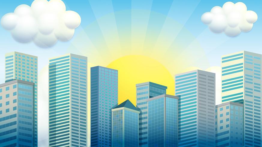 Skyskrapor i staden vektor