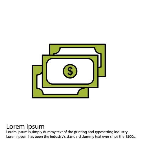 Vektor-Währungssymbol Linie gefüllt perfekte Symbol Vektor oder Pigtogram Illustration