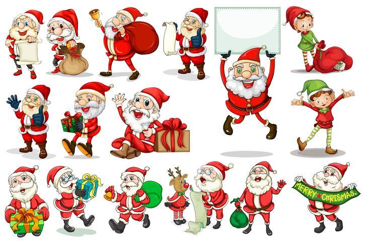 Santa handlingar vektor