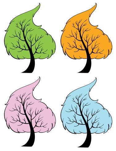 Säsongsbetonade träd vektor