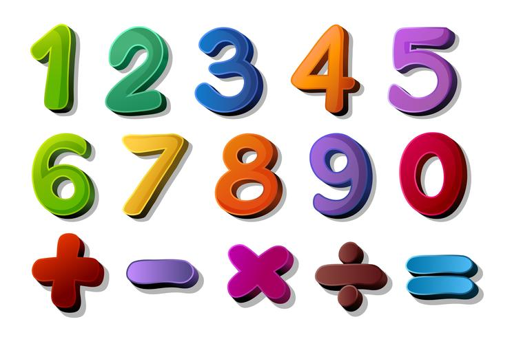 siffror och matte symboler vektor