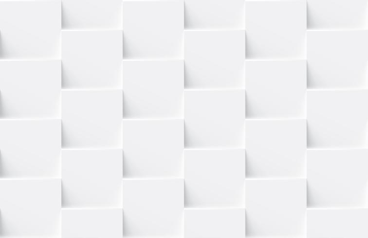 Weißer nahtloser abstrakter geometrischer Hintergrund vektor