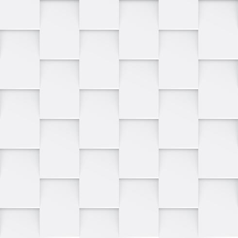 Vit sömlös abstrakt geometrisk bakgrund vektor