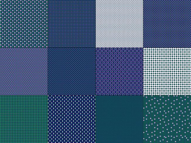 små blågrön geometriska mönster vektor