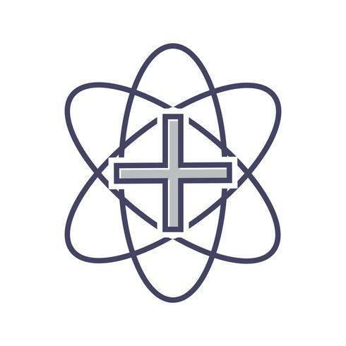 Medizinische Zeichenzeile gefüllt Symbol vektor