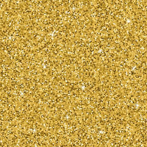Sömlös gul guld glitter konsistens. Shimmer bakgrund. vektor