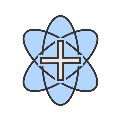 Medicinsk teckenfylld ikon vektor