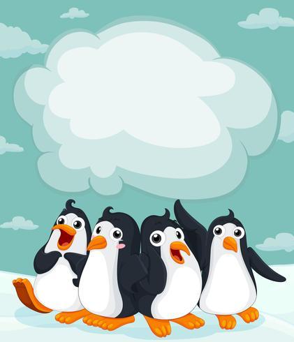 Gruppe Pinguin auf dem Eis vektor