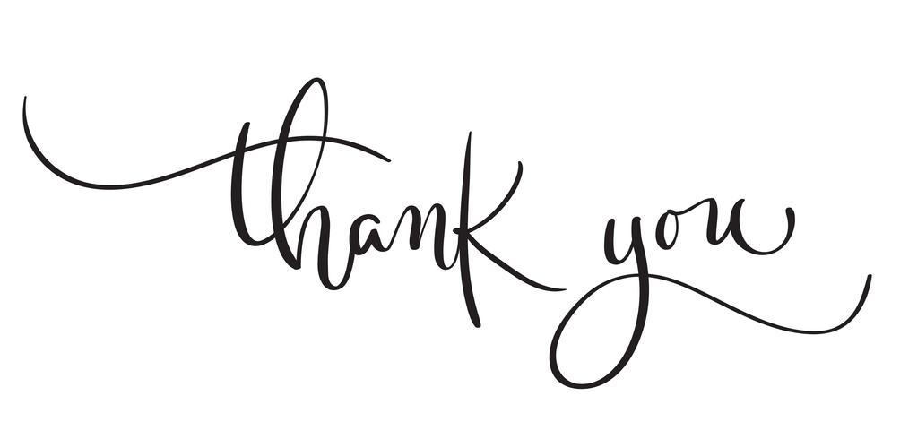 Hand gezeichneter Weinlese Vektortext danken Ihnen auf weißem Hintergrund. Kalligraphiebeschriftungsillustration EPS10 vektor