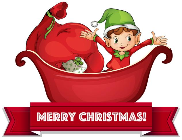Jul älva vektor