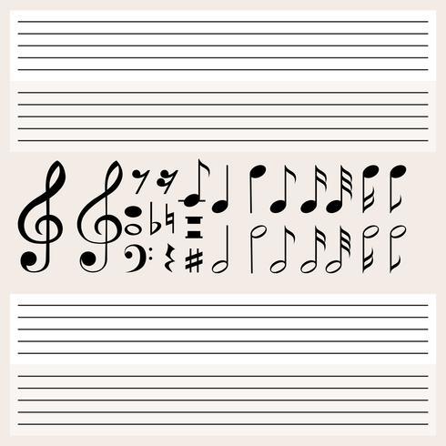 Musik noter och tomma skalor vektor