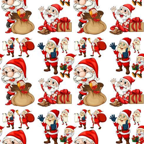 Sömlös Santa vektor