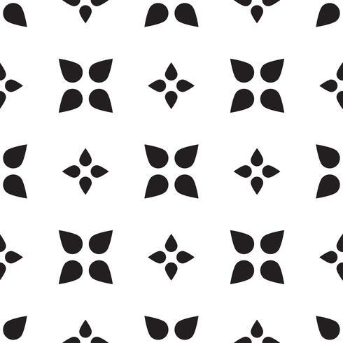 Universelle nahtlose Schwarzweiss-Musterfliesen. vektor