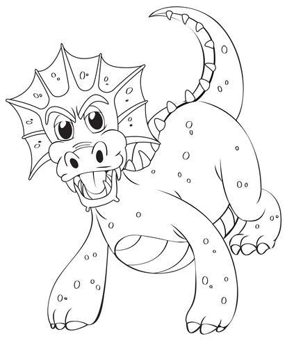 Kritzeleien zeichnen Tier für Drachen vektor