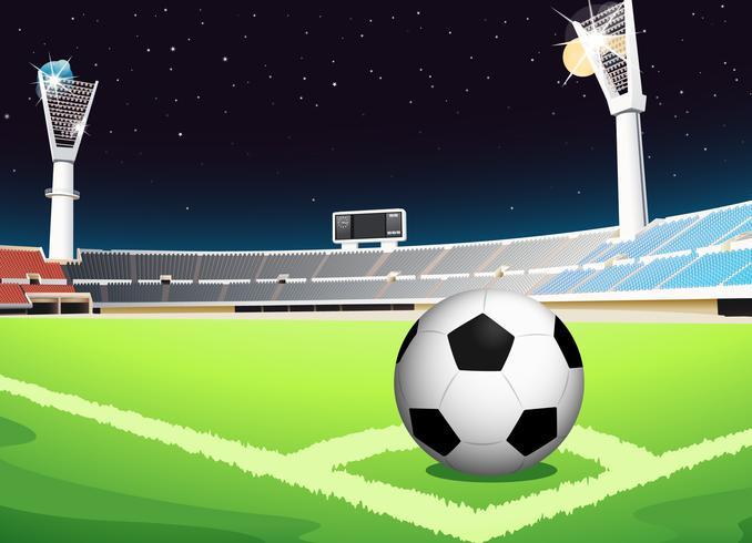 Fotboll på natten vektor