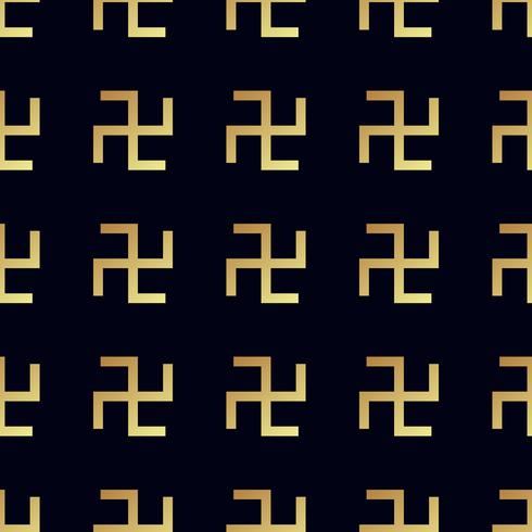 Swastika sömlöst mönster. Roterande kors vektor