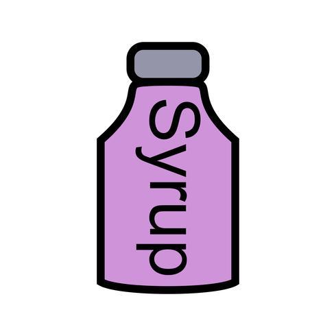 Vektor-Sirup-Symbol vektor