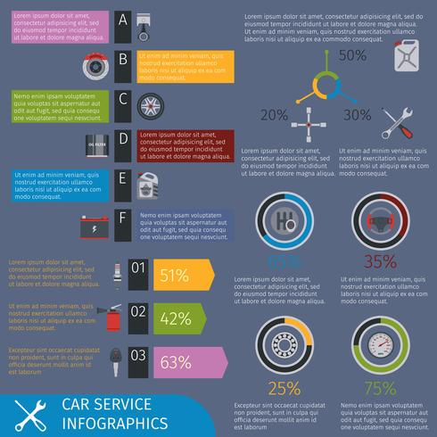 Autoservice-Infografiken vektor