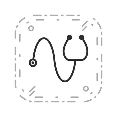 Vektor-Stethoskop-Symbol vektor