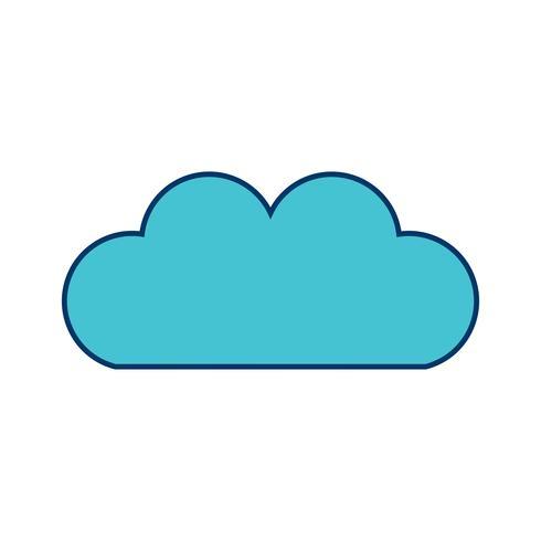 Vektor Wolke Symbol