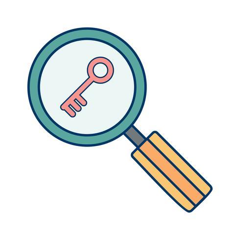 Vektor-Schlüsselwort-Suchsymbol vektor