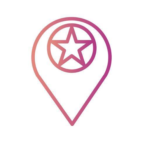 Vektor Markierte Standort-Symbol