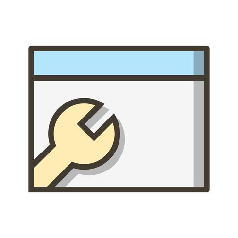 Vektorbrowser-Einstellungssymbol vektor