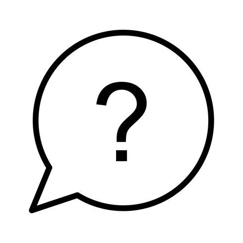 Vektor-Frage-Symbol vektor