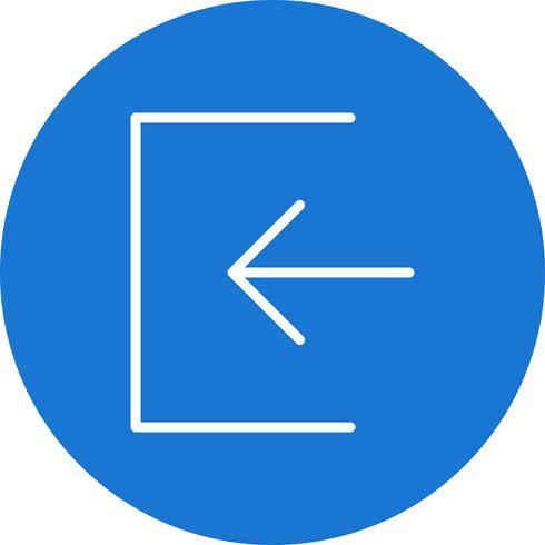 Melden Sie sich in der Icon-Vektor-Illustration an vektor