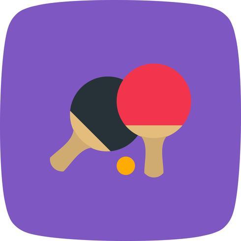 Ping-Pong-Ikonen-Vektor-Illustration vektor