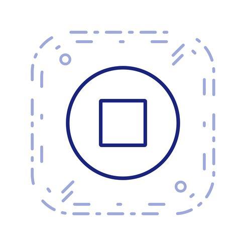 Stoppen Sie die Icon-Vektor-Illustration vektor