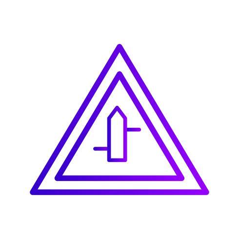 Vektor-Querstraßen von rechts nach links Verkehrsschild-Symbol vektor