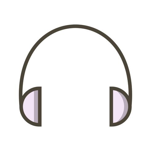 Kopfhörer-Ikonen-Vektor-Illustration vektor